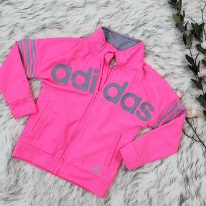 Girls Pink Adidas Track Jacket Size 5
